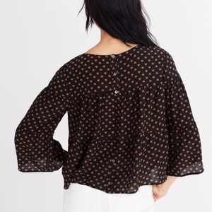 Madewell Tiered Heart Silk Blouse Size XXS